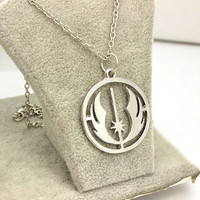 Star Wars 6 : Return Of The Jedi Hollow Silver Plated Fashion Pendant Necklace High Quality Women And Men Drop Chain Necklace