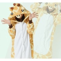 Ninimour- Pajamas Anime Costume Adult Animal Cosplay (M, Giraffe)