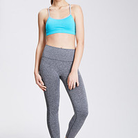Heathered Seamless Capri Leggings