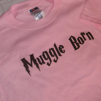 Muggle Born T-Shirt. Childrens Size, Harry Potter Inspired. Can Be Customized By Size And Color.