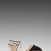 Soludos Classic Sandal Woven in Black