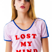 Lazy Oaf Mindful Top Pink/Blue