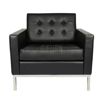 Florence Lounge Chair - Leather - Reproduction | GFURN