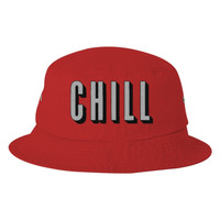 Netflix And Chill  Embroidered Bucket Hat