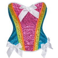 y Colors Cute girl dancing Burlesque Corset With veil Skirt Fancy dress outfit Costume S-2XL Alternative Measures - Brides & Bridesmaids - Wedding, Bridal, Prom, Formal Gown