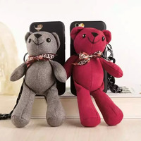3D Cute Cartoon Teddy Bear Plush Doll Toy Soft Back Cover Case For iPhone 6 4.7pping