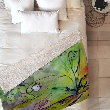 Ginette Fine Art Lily Of The Valley Fleece Throw Blanket