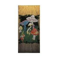 Mushrooms Shroom Door Curtain ~ Gateways 100% Bamboo Beaded Door Curtains ~ 90 Strands