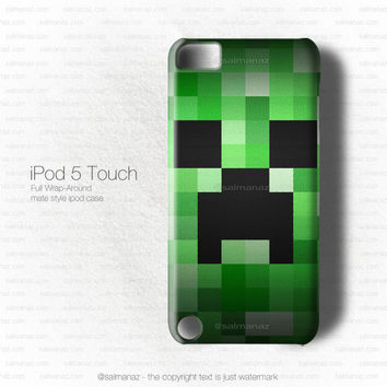 Minecraft Creeper Hostile Mobs Games Lego iPod 5 Touch Case