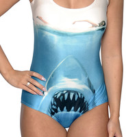 Shark Attack One-Piece Swimsuit Design 5024