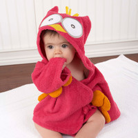 Baby Aspen My Little Night Owl Hooded Terry Spa Robe 0-9 months