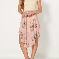 Pink Roses Hanky Hem Dress | Midi Dresses | rue21