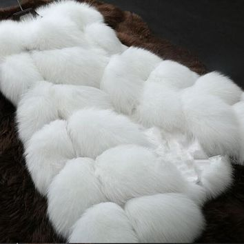 *Online Exclusive* Furry Vest with Pockets