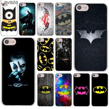Lavaza Batman Superhero Hard Cover Case for Apple iPhone 8 7 6 6S Plus 5 5S SE 5C 4 4S X 10 Coque Shell
