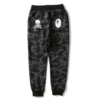 Tide Brand Shark Camouflage Ankle Banded Jogging Thin Men And Women Pure Cotton Pants Sweatpants Joggers