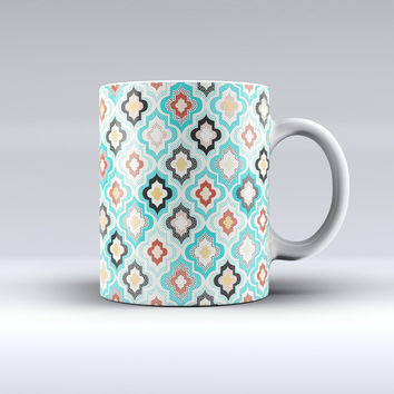 The Dotted Moroccan pattern ink-Fuzed Ceramic Coffee Mug