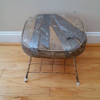 Vintage Rustic Shop Stool Stand End Table Seating