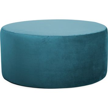 """Mojo Turquoise Universal 36"""" Round Ottoman Cover"""