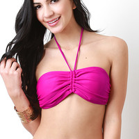 Colored Halter Bandeau Top