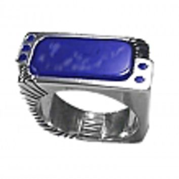 Sterling Silver Rectangular Cabochon Ring