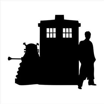 Tardis Dr Who  Vinyl Car/Laptop/Window/Wall Decal