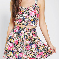 Urban Outfitters - Reverse Floral Two-Piece Skirt Set
