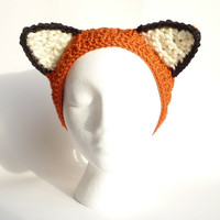 Crochet Headband Pattern CROCHET PATTERN Crochet Headbands for Adults for Children Crochet Headband Hair Accessory Crochet Earwarmer Fox Ear