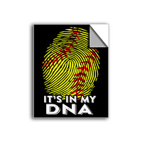 "FREE SHIPPING - ""It's In My DNA - Softball"" Vinyl Decal Sticker (6"" tall) - Limited Time Only!"