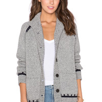 MiH Jeans Inspiral Cardigan in Charcoal