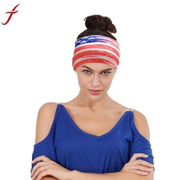 Unisex Men American Flag Stripe Sporting Headband