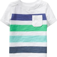 Striped Pocket Tees for Baby