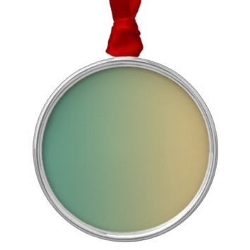 Xanadu Dark sea green Ecru color Metal Ornament