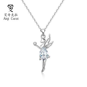 Fashion Pendant With Cubic Zircon Angel Design Retro Pendants For Women 2 Colors For Chioce Necklace Thanksgiving Gift AIQICARAT