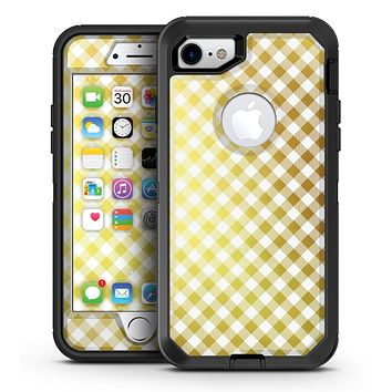 Gold and White Plaid Picnic Table Pattern - iPhone 7 or 7 Plus OtterBox Defender Case Skin Decal Kit