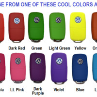 Key FOB Remote Flip keyless entry transmitter silicone case cover VW Volkswagen
