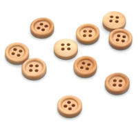 Wooden Buttons Set of 10 (15mm or 5/8ths) 4 Holes