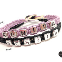 Bonita Bestia Couples Bracelet Beauty Beast Spanish Set of 2