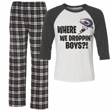 Where are We Dropping Boys Fortnight PJs for boys