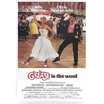 Vintage Grease UK Release Movie Poster// Classic Movie Poster//Movie Poster//Poster Reprint//Home Decor//Wall Decor//Vintage Art