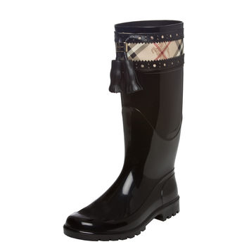 Burberry Women's '3803232' Haymarket Brogue Rainboots