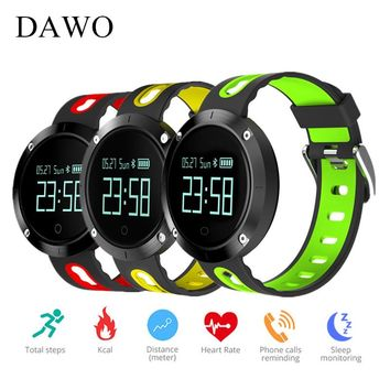 Fitness Smart Watch Bracelet Heart Rate Monitoring Step Sleep Blood Pressure Activity Tracker Waterproof PK Fitbits Band