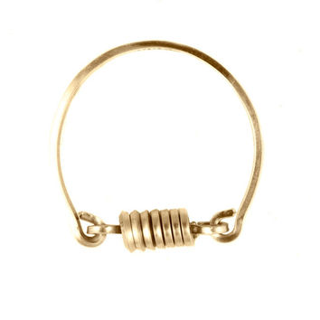Gold By Boe Ring with Spinning Coil
