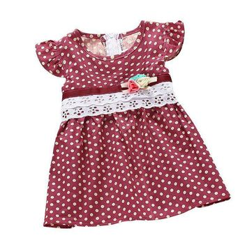 Baby Girl dress dot print Baby Bohemian Beach dresses sleeveless Children's clothing kids vestidos