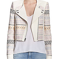 BCBGMAXAZRIA - Cody Printed Knit Jacket - Saks Fifth Avenue Mobile
