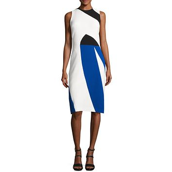 Crepe Color Block Dress