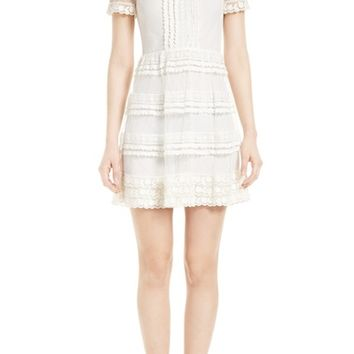 RED Valentino Lace & Point d'Esprit Dress | Nordstrom