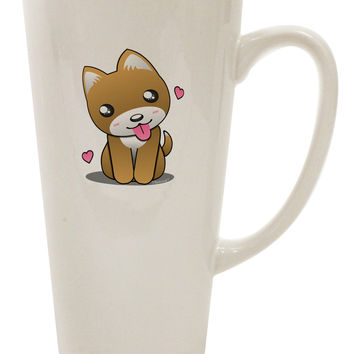 Kawaii Puppy 16 Ounce Conical Latte Coffee Mug