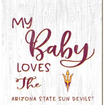 Arizona State Sun Devils | My Baby Loves | Sign | Wood | Rope Hanger | NCAA