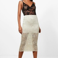 Amber Longer Length Midi Skirt | Boohoo