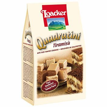Quadratini Large Tiramisu Wafer Cookies by Loacker 7.7 oz